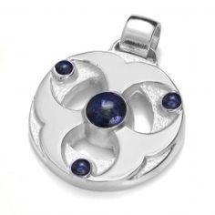 Zawieszka 3-Księżyce z naturalnym Lapis lazuli. Rod www.schiele.com.pl