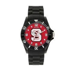 Sparo Men's Spirit North Carolina State Wolfpack Watch, Black