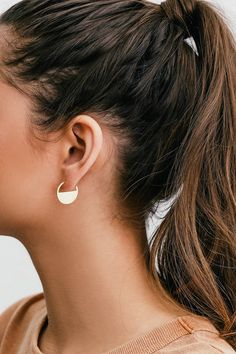 0c1b24c5c The Art Deco Gold Earrings are sure to be a hit! Shiny, brushed gold
