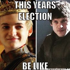 Someone could show me this in about 10 years and I'll still probably know what election year they're talking about 😂