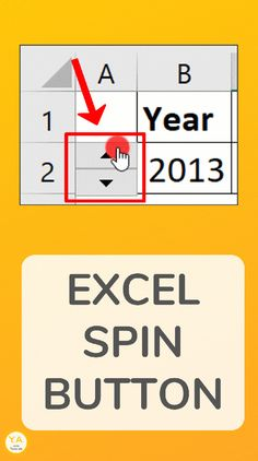 An Excel Spin Button is made up of an up arrow and a down arrow. Clicking each increases or decreases a value. See how to add a Spin Button to your spreadsheet. Excel Tips, Excel Hacks, Computer Programming, Computer Science, Computer Tips, Computer Help, Excel Cheat Sheet, Microsoft Project, Microsoft Office