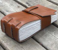 Ochre Leather Sketchbook 128 pgs watercolour by MyHandboundBooks