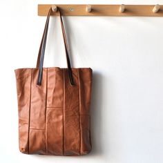 Leather Tote Cognac