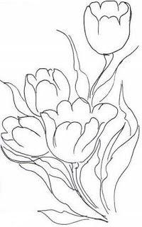 risco pintura em tecido tulipas                                                                                                                                                     Mais
