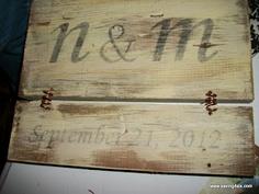 Saving 4 Six - Transferring printed text to wood. - Wedding Wall Hanging
