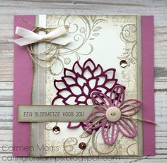 May Flowers, Falling Flowers, Stampin Up