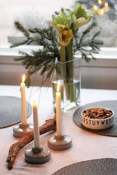 Christmas Home Christmas Home, Candle Holders, Pottery, Clay, Candles, Deco, Artwork, Inspiration, Winter