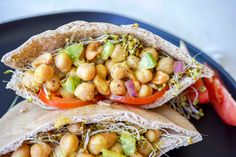 Curried chickpea salad is a wonderful way to go meatless and still get the protein & nutrients your body needs! It is sweet, salty, healthy & very filling! Vegetable Salad Recipes, Green Salad Recipes, Slaw Recipes, Easy Salad Recipes, Salad Dressing Recipes, Oven Recipes, Sweets Recipes, Delicious Recipes, Winter Fruit Salad