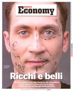 Omar Fogliadini per la copertina di Panorama Economy. LaCLINIQUE Cosmetic Surgery, una storia di successo made in Italy!