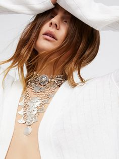 Chanour Good Vibrations Metal Collar at Free People Clothing Boutique