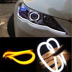 2 Pcs Car Auto Flexible Silicon External Daytime Running Lights LED 12V Fog Lamp