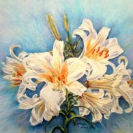 Oil On Canvas, Lily, Check, Painting, Art, Craft Art, Painting Art, Kunst, Lilies