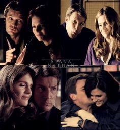 Castle BTS and bloopers Castle Abc, Castle Series, Castle Tv Shows, Funny Movie Lines, Funny Movies, Castle Beckett, Nathan Fillion, Perfect Couple, Stana Katic