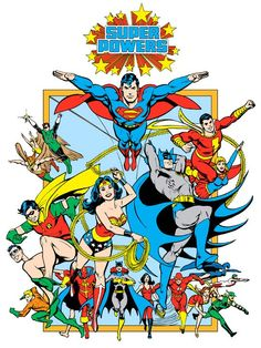 Super Powers from 1982 DC Comics Style Guide by Jose Luis Garcia-Lopez