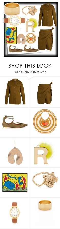 """modern off spring"" by denisee-denisee ❤ liked on Polyvore featuring Post-It, Étoile Isabel Marant, Aquazzura, Sophie Anderson, STELLA McCARTNEY, Fendi, Olympia Le-Tan, Kenzo, Kate Spade and Soave Oro"