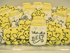 What Will It Bee? Baby Shower Cookies - by A Dozen Eggs Bake Shoppe.