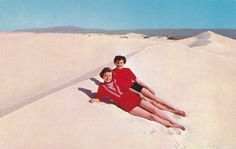 White Sands National Monument 1950s Vintage by EphemeraObscura