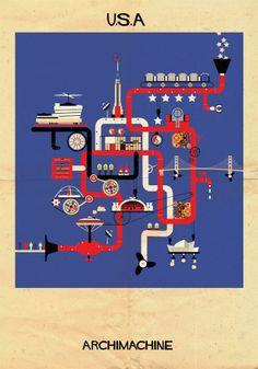 PHOTOS. ARCHIMACHINE: 17 pays représentés en machines architecturales