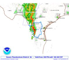 SPC Severe Thunderstorm Watch 36 Status Reports - http://blog.clairepeetz.com/spc-severe-thunderstorm-watch-36-status-reports/