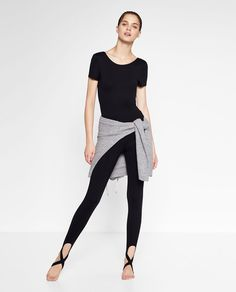 BALLET LEGGINGS WITH CROSSOVER ANKLE STRAP-Ballet collection-GYMWEAR-WOMAN | ZARA United States