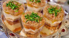طريقة عمل كاسات قمر الدين بالكنافة - Apricot #kunafa #cups #recipe