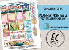 Free Printable Kawaii Planner Girl Planner Stickers from Victoria Thatcher