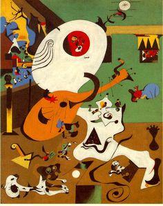 Las Vanguardias Literarias-Interior holandés I, Joan Miró (1928)