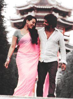 """Sonakshi Sinha and Shahid Kapoor in """"R ... Rajkumar"""" :)"""