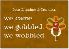 Gobble and Wobble - Happy Thanksgiving Greeting Cards from Treat.com