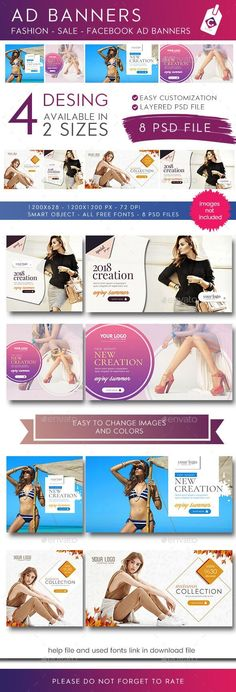Facebook AD Banner  #BestDesignResources Facebook Cover Design, Facebook Timeline Covers, Banner Design, Layout Design, Promotional Banners, Fashion Banner, Facebook Banner, Web Design Projects, Change Image