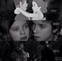 Peter Pan 1953, 2003 and 2013 #PeterPan