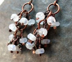Hey, I found this really awesome Etsy listing at https://www.etsy.com/listing/122936495/moonstone-earrings-rustic-copper