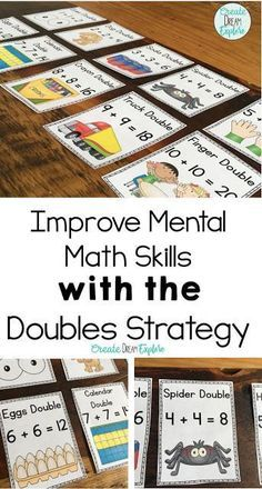 Check out these fun activities for teaching the Doubles Strategy! This is perfect for first, and second grade. Doubles BINGO, I have who has, My Doubles Booklet as well as some eye catching posters to help students master their doubles math facts. Math Tutor, Math Skills, Math Lessons, Teaching Math, Creative Teaching, Teaching Ideas, Math Literacy, Kindergarten Math, Math Tools