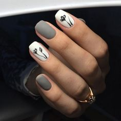 There are three kinds of fake nails which all come from the family of plastics. Acrylic nails are a liquid and powder mix. They are mixed in front of you and then they are brushed onto your nails and shaped. These nails are air dried. Nail Art Diy, Diy Nails, Manicure Ideas, Diy Art, Easy Nail Art, Gel Manicure, White Gel Nails, Matte White Nails, Black White Nails