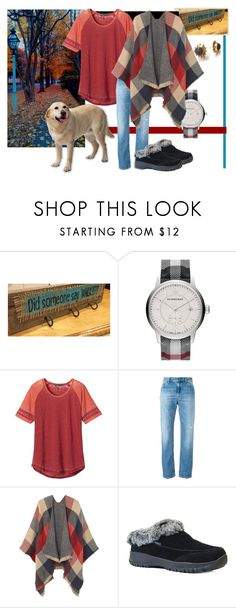 """""""Walk the dog"""" by namekristy ❤ liked on Polyvore featuring Burberry, prAna, Dondup, MANGO and Western Chief"""