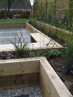 A friendly, professional Garden Design service from an experienced garden designer working in the East Midlands and throughout the UK Small Backyard Gardens, Small Backyard Landscaping, Back Gardens, Small Gardens, Outdoor Gardens, Small Backyards, Sloped Garden, Garden Privacy, Back Garden Design