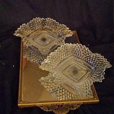 Antique Dishes, Antique Glassware, Vintage Dishware, Vintage Items, Fenton Glass, Murano Glass, Art Nouveau, Cut Glass, Clear Glass