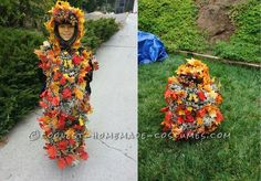 Unusual Leaf Monster Halloween Costume... This website is the Pinterest of costumes