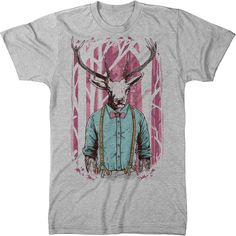 Here at Trunk Candy we are into all kinds of things. One of those things happen to be designs of animals who know how to get the job done. A prime example is this deer, who is as comfortable at the conference table as he is frolicking in the forest. Apparel Design, Deer, Hipster, Conference Table, Things Happen, Mens Tops, T Shirt, How To Wear, Animals