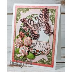 Gallery | Peach Roses And Butterfly Wishes - Heartfelt Creations