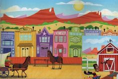SonWest Roundup: Western Town Wall Mural Set