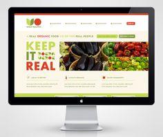 clean website nice imagery