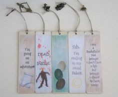 More Rustic Fandom Bookmarks by SplatterPalette on Etsy