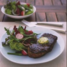 Rather than drizzle oil onto the barbecue brush the steaks with a little oil before barbecuing. Not only does this quick step stop them sticking, it helps them to colour well, and that in turn adds to the flavour.