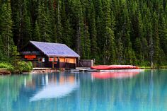 Cabin on Lake Louise, Alberta,CANADA.