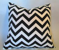 "Chevron Decorative throw pillow cover in black and white zigzag throw pillow, pillow case 14x14"" 16X16"" 18x18"" 20x20"" 22x22"" 24x24"""