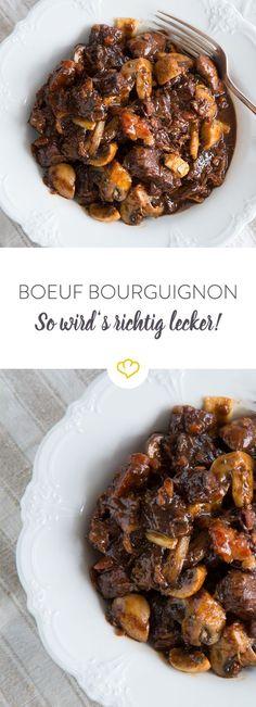 Unglaublich aromatisch und sensationell lecker - für Boeuf Bourguignon steht man gerne auch mal etwas länger in der Küche.