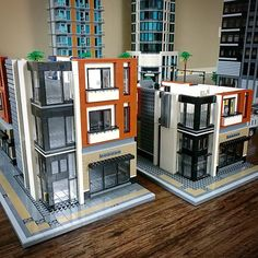 Wasabi District 2018 - New Building Lego Modular, Lego Design, Minecraft, Lego City, Lego Poster, Legoland, Lego Bridge, Modele Lego, Lego Boxes