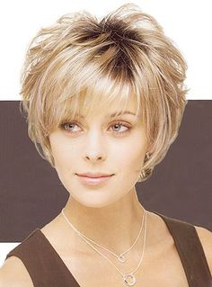 Europe and the united states short straight hair short curly hair rose woven mesh wig shallow blonde wig Short Grey Hair, Short Straight Hair, Short Hair With Layers, Short Hair Cuts For Women, Bob Hairstyles For Fine Hair, Haircut For Thick Hair, Wig Hairstyles, Short Haircut Styles, Short Layered Haircuts