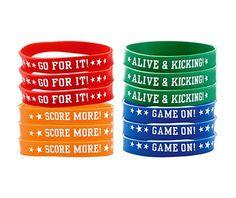 Soccer Bracelets 12ct - Soccer Theme Party - Sports Theme Party - Theme Parties - Categories - Party City